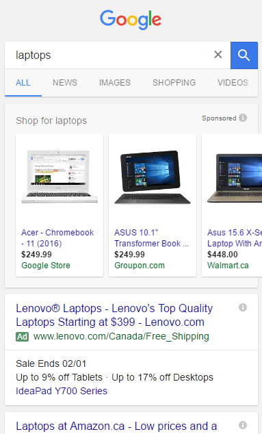Google AdWords Testing Non-Carousel PLAs in Mobile Search