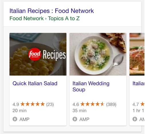 Google amp recipe carousels live in search results there can also be more than one amp carousel on the same search results page so just because a big brand recipe site has a carousel on the search results forumfinder Gallery