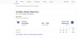 "Google Adds ""Watch Live"" Link to Sports Scores Box in Search Results"