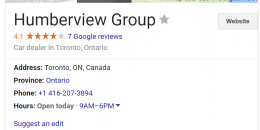 Google My Business Showing Business Area Served in Knowledge Panel