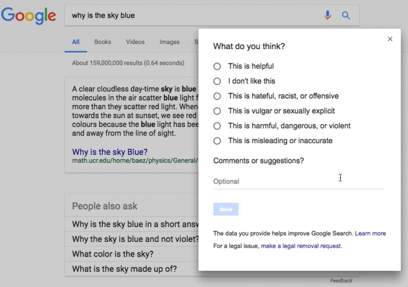 Google Updates Feedback Form for Featured Snippets & Autocomplete