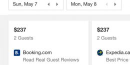 Google Testing Hotel Rates Carousel in Search Results