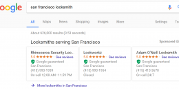 Google AdWords Testing Two Card Style Home Service Ads