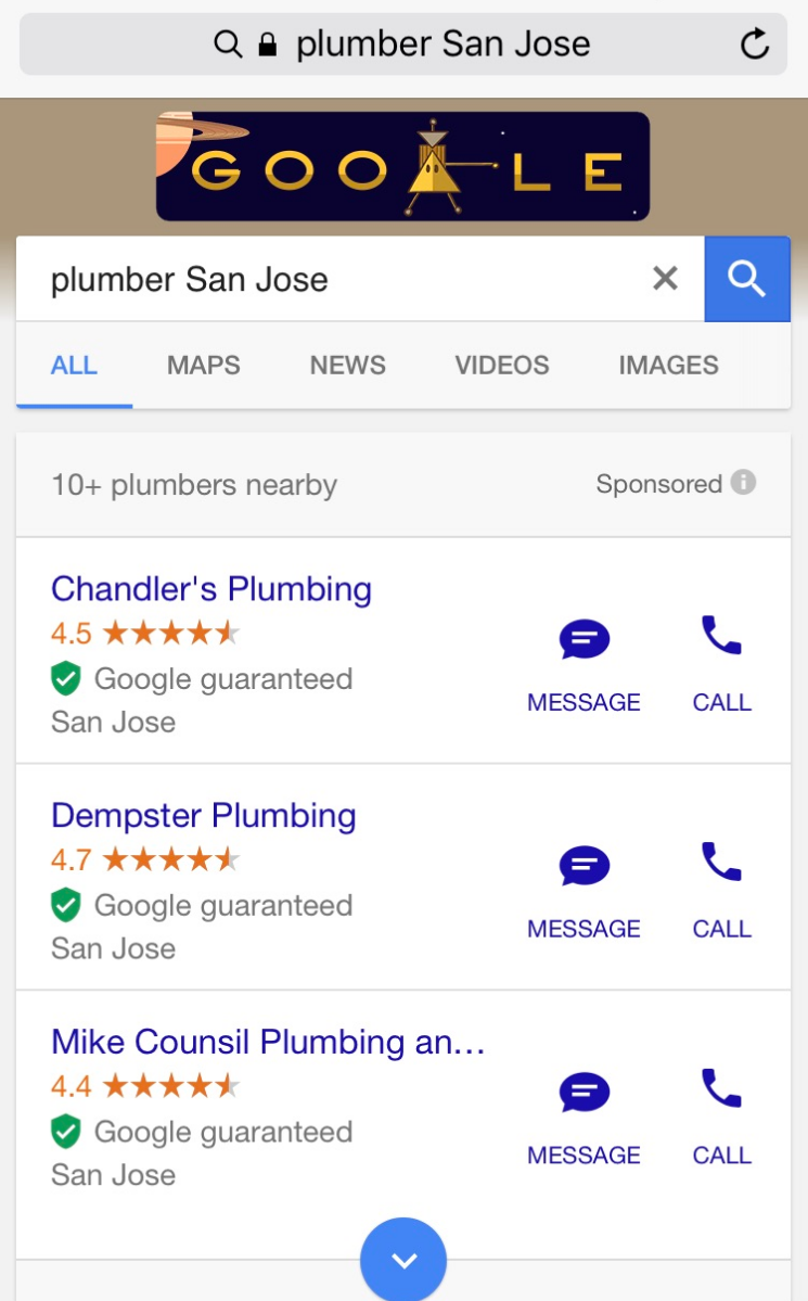 google adds detail showing number of businesses in home services ads
