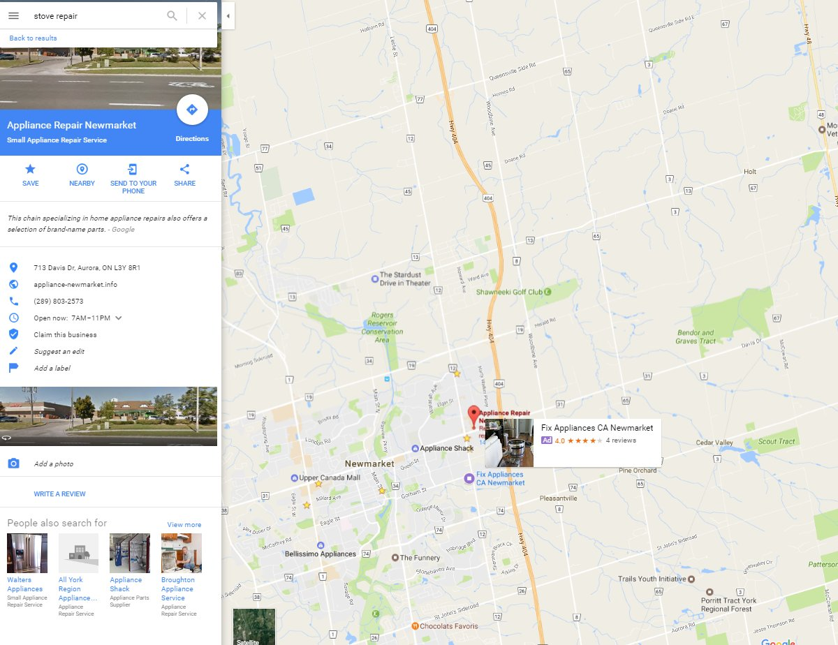 Google Testing Pop Up AdWords Ads on Google Maps