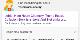 Google Adds Local Restaurant Search Suggestion to Top of Search Results