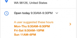 Google Flags User Submitted Store Hours in Local Knowledge Panel