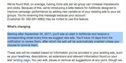 Google AdWords Beta Feature Creates New Ads… & Auto Enables Them