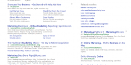 Bing Testing Google-like Search Header at Top of Search Results