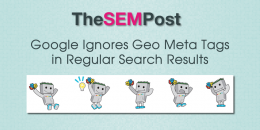 Google Ignores Geo Meta Tags in Regular Search Results