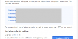 Google Search Console Sends Security Warning Notices for HTTP Sites