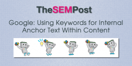 Google: Using Keywords for Internal Anchor Text in Content