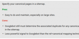 Canonicals: Sitemap Canonicals Weaker Signal Than Rel=Canonical
