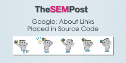 Google: About Links Placed in Source Code
