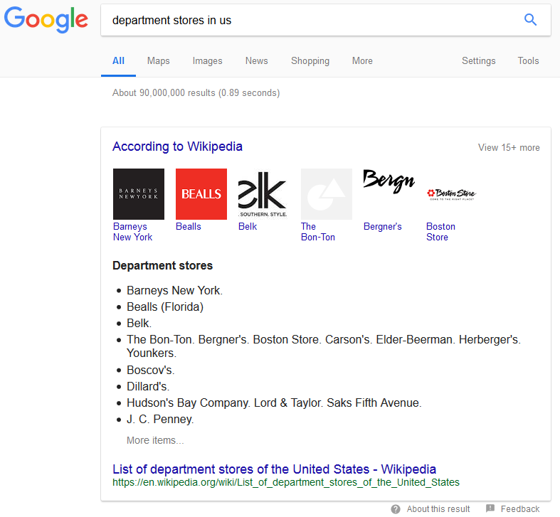 """google mentioned wikipedia 6 - Google Adds """"Mentioned on Wikipedia"""" Carousels in Search Results"""