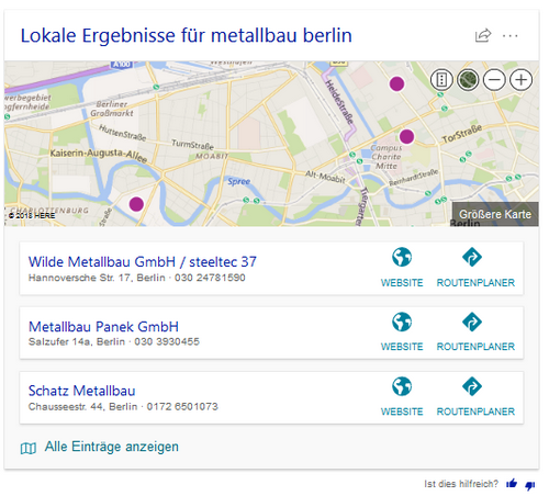 Bing Karte.Bing Local Pack Testing New Card Style In Search Results