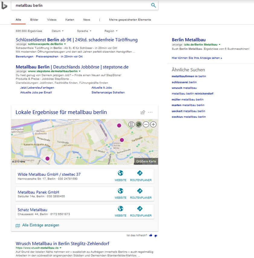 bing local pack new style 3 - Bing Local Pack Testing New Card Style in Search Results
