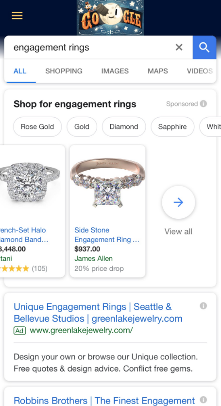 google pla carousel 2 - Google Testing Product Listing Ad Carousels With 30 Products on Mobile