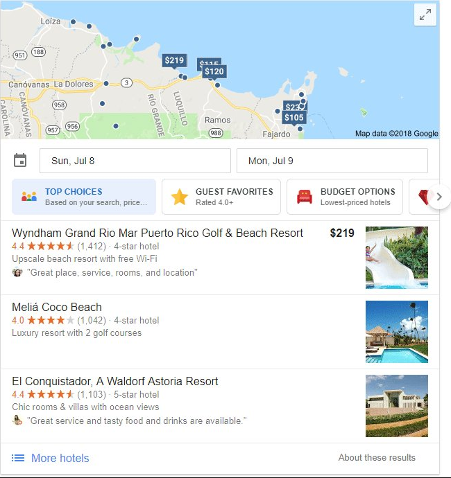google hotels filter 1 - Google Adds New Hotel Carousel Features to Search Results